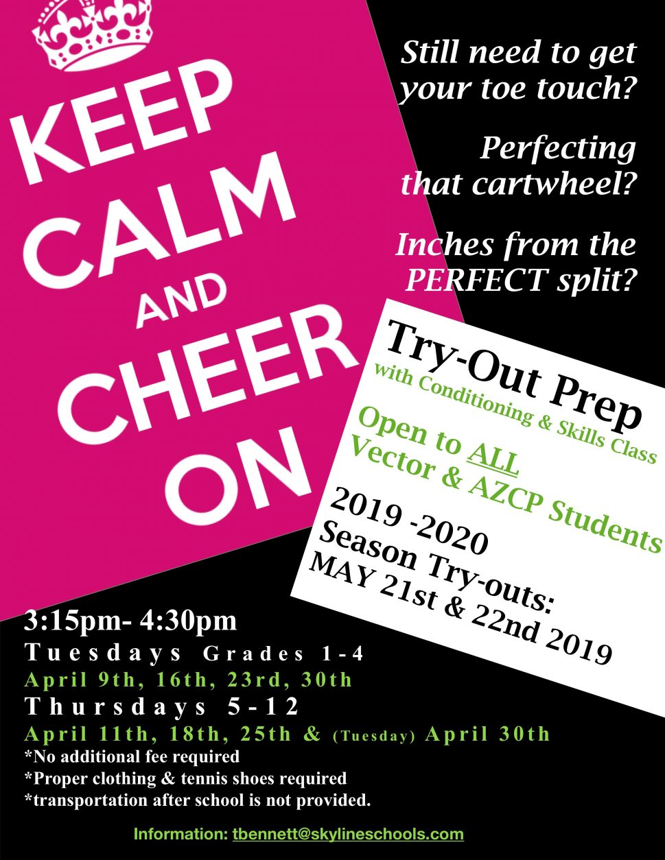 cheerleader try out prep
